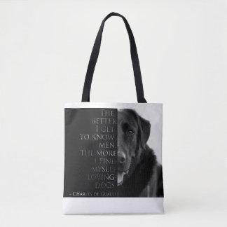 Charles de Gaulle Dog Quote Bag (Labrador Bag)