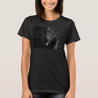 Charles de Gaulle Dog Quote Shirt (Ladies T-shirt)