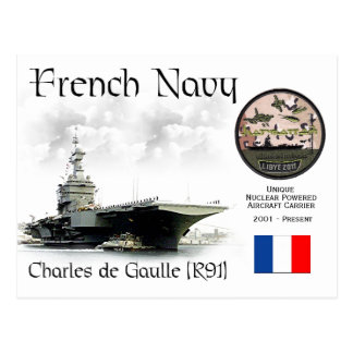 Charles de Gaulle (R91) French Aircraft Carrier Postcard