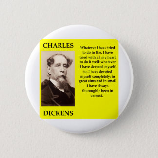 charles dickens 2 inch round button