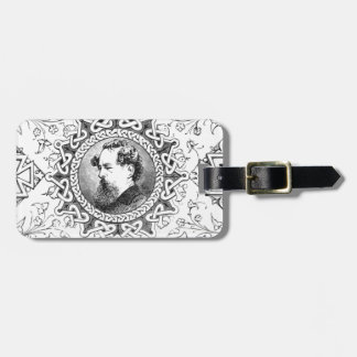 Charles Dickens banner famous novelist Luggage Tag