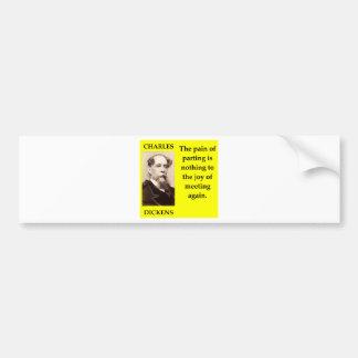 charles dickens bumper sticker