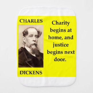 charles dickens burp cloth