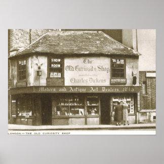 Charles Dickens Curiosity Shop, London Vintage Poster