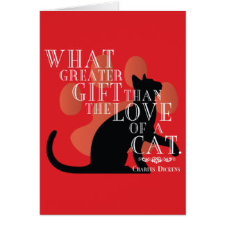 Charles Dickens on Cats Quote Card
