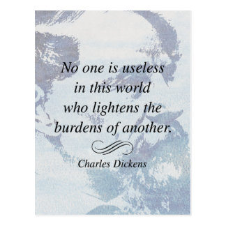 Charles Dickens on Helping Others Quote Magnet Postcard