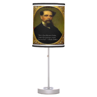 Charles Dickens & Quote Table Lamp