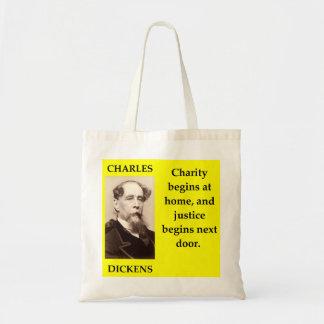 charles dickens tote bag