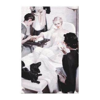 Charles Edward Chambers: Manicure Canvas Print