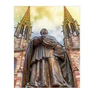Charles-Emile Freppel statue, Obernai, France Acrylic Wall Art