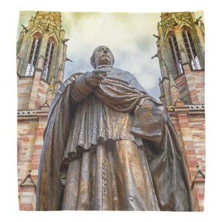 Charles-Emile Freppel statue, Obernai, France Bandana