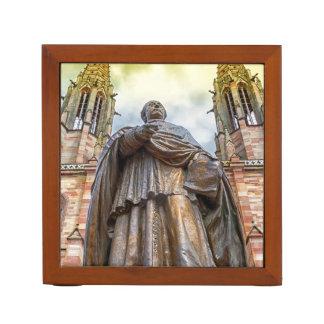 Charles-Emile Freppel statue, Obernai, France Desk Organizer