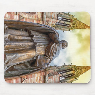 Charles-Emile Freppel statue, Obernai, France Mouse Pad
