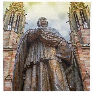 Charles-Emile Freppel statue, Obernai, France Napkin