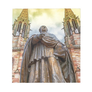 Charles-Emile Freppel statue, Obernai, France Notepad