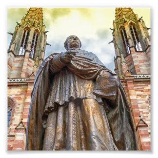 Charles-Emile Freppel statue, Obernai, France Photo Print