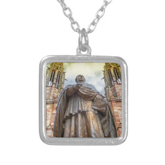 Charles-Emile Freppel statue, Obernai, France Silver Plated Necklace