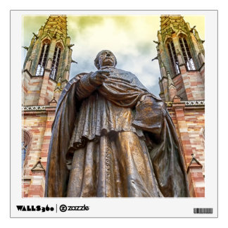 Charles-Emile Freppel statue, Obernai, France Wall Decal