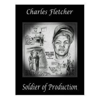 Charles Fletcher ~ Soldier of Production ~ Welder~ Postcard