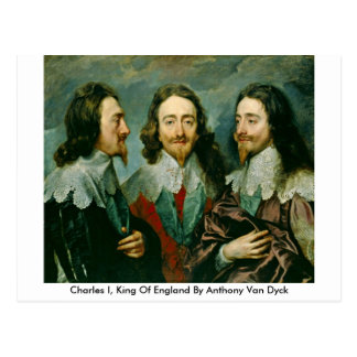 Charles I, King Of England By Anthony Van Dyck Postcard