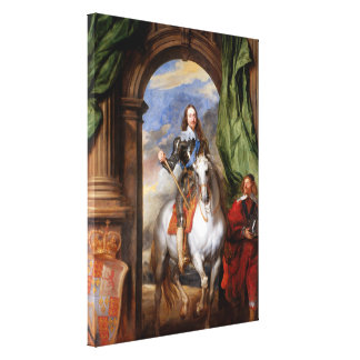 Charles I on Horseback by Van Dyck Canvas Print