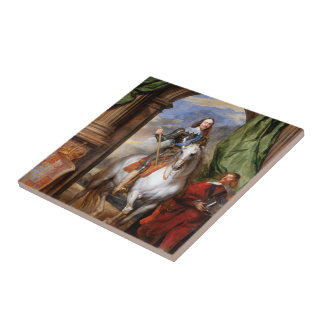 Charles I on Horseback by Van Dyck Tile