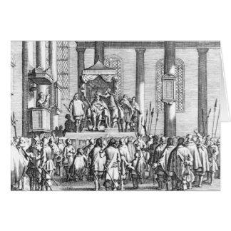 Charles II  Crowned at Scone, 1651 Card