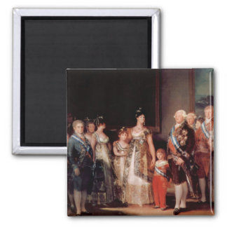 Charles IV of Spain and His Family - Goya Square Magnet