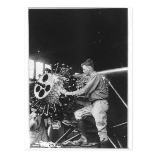 Charles Lindbergh Circa 1927 Post Card