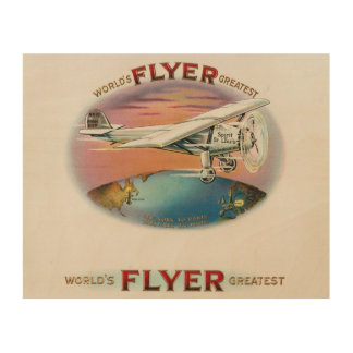 Charles Lindbergh World's Greatest Flyer Vintage Wood Wall Art