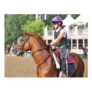 Charles LoPresti Workouts at Saratoga Postcard