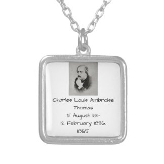 charles Louis Ambroise Thomas 1865 Silver Plated Necklace