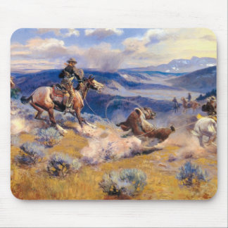 Charles M Russell s Loops and Swift Horses 1916 Mousepads