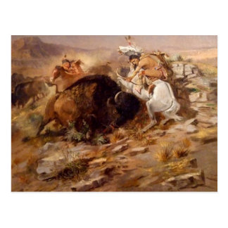 Charles Marion Russell - Buffalo Hunt Post Card