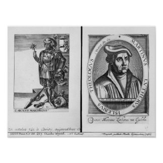Charles Martel  and Martin Luther Posters