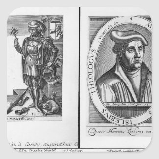 Charles Martel  and Martin Luther Square Stickers