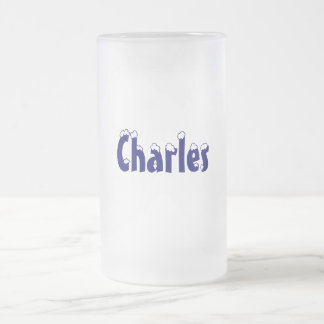 Charles-Name Style-Frosted Mug