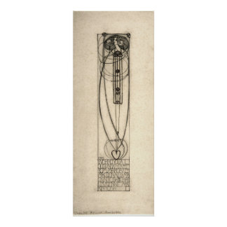 Charles Rennie Mackintosh 1890 New Year's Card Poster