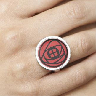Charles Rennie Mackintosh Arts & Crafts Style Rose Photo Rings