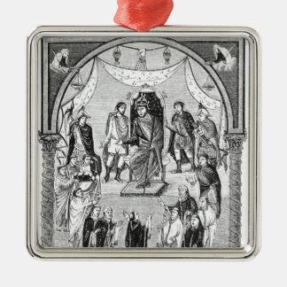 Charles the Bald, King of France Metal Ornament