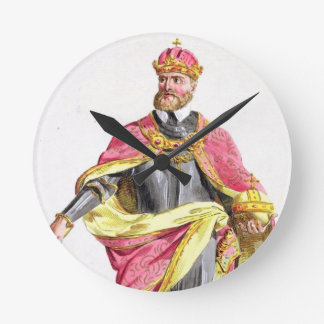 Charles V (1500-58) from 'Receuil des Estampes, re Round Clock