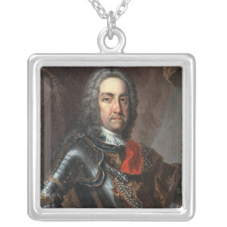 Charles VI  Holy Roman Emperor Silver Plated Necklace