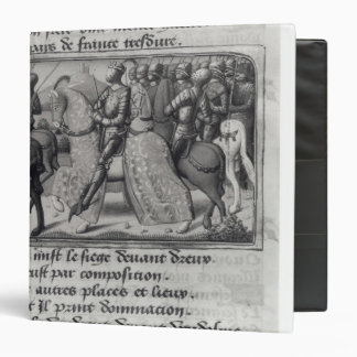 Charles VII  and Joan of Arc at the Siege of 3 Ring Binder