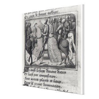 Charles VII  and Joan of Arc at the Siege of Gallery Wrap Canvas