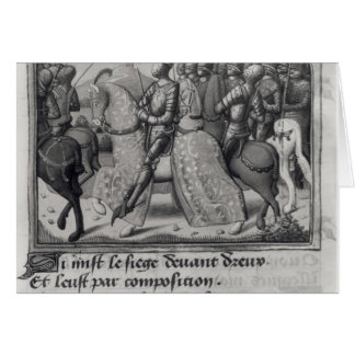 Charles VII  and Joan of Arc at the Siege of Greeting Cards