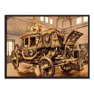 Charles X, carriage, Versailles, France vintage Ph Postcard