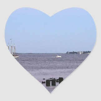 Charleston Bay Heart Sticker