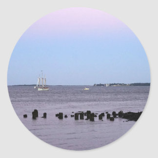 Charleston Bay Round Sticker
