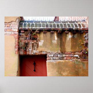Charleston brick and mortar foundation view poster