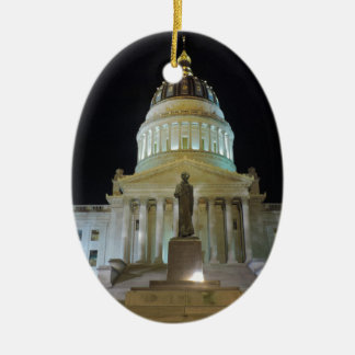 Charleston Capitol at Night Ceramic Ornament